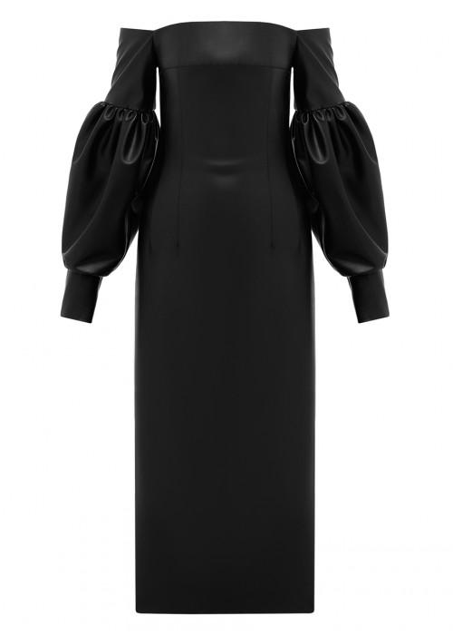 POWER LEATHER CORSET DRESS