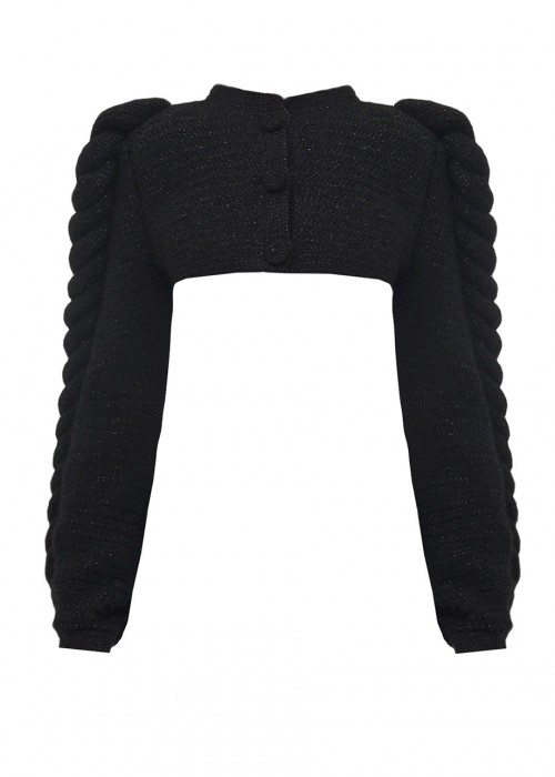CROPPED KNITTED JACKET