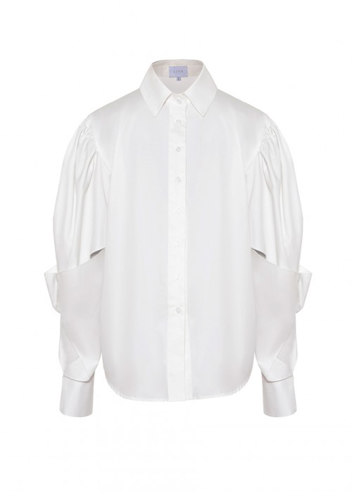 SHIRT WITH ASYMMETRIC SLEEVES