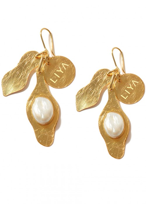 JELLYFISH EARRINGS WITH PEARL