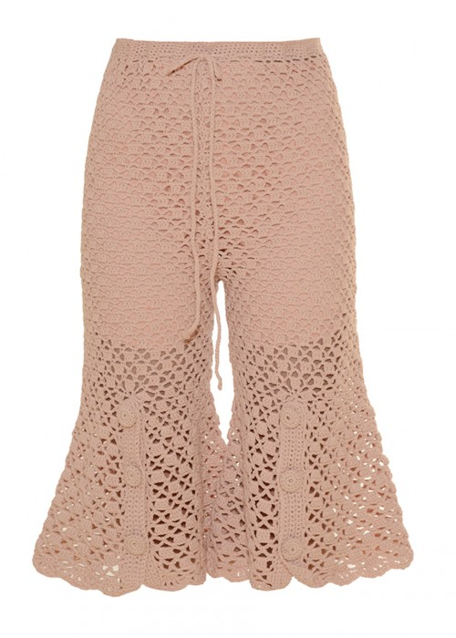 FRONT CUT NUDE SHORTS