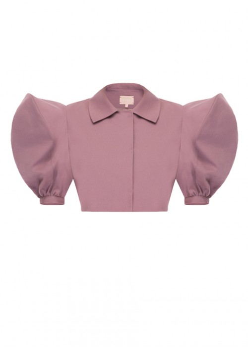 PUFF SLEEVES CROPPED TOP