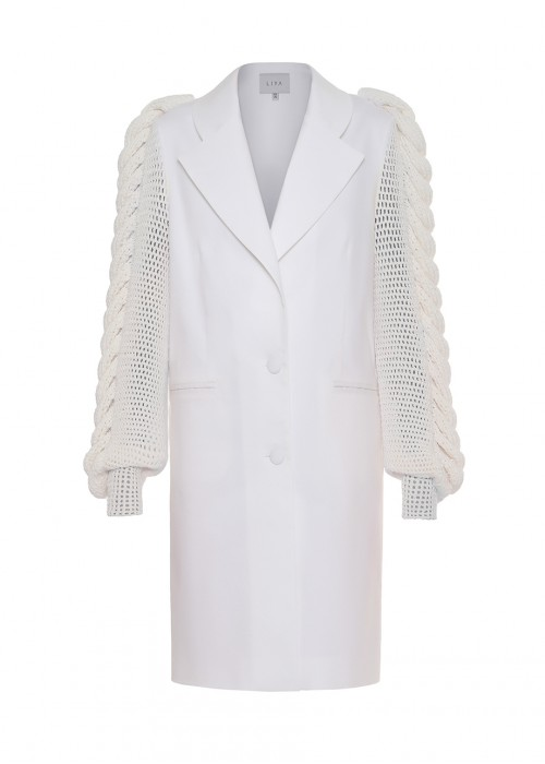 KNITTED SLEEVES BLAZER
