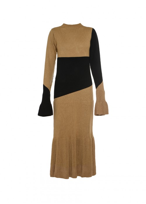 BI-COLOR KNITTED DRESS